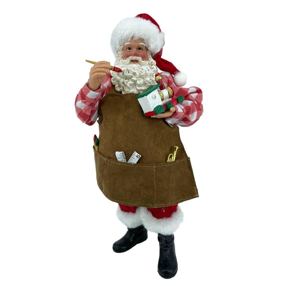 Babbi Natale.Babbo Natale Artista Da Collezione H 25 Cm Il Villaggio Di Babbo Natale